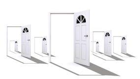 ανοικτό λευκό πορτών Στοκ εικόνα με δικαίωμα ελεύθερης χρήσης