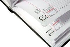 Ανοικτό ημερολόγιο Στοκ φωτογραφίες με δικαίωμα ελεύθερης χρήσης