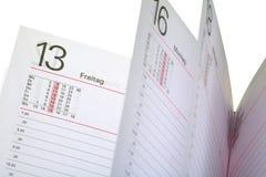 Ανοικτό ημερολόγιο Στοκ φωτογραφία με δικαίωμα ελεύθερης χρήσης