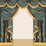 Ανοικτό θέατρο παρασκηνίων διάνυσμα ελεύθερη απεικόνιση δικαιώματος