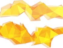 Ανοικτό κίτρινο και πορτοκαλί αφηρημένο υπόβαθρο πολυγώνων ελεύθερη απεικόνιση δικαιώματος
