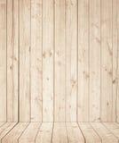 Ανοικτό καφέ ξύλινη σύσταση τοίχων με το παλαιό πεύκο, πάτωμα έλατου Στοκ Εικόνες