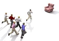 ανοικτό κενό ανταγωνισμού επιχειρηματιών απεικόνιση αποθεμάτων