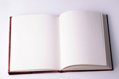 Ανοικτό κενό βιβλίο σημειώσεων εγγράφου Στοκ φωτογραφία με δικαίωμα ελεύθερης χρήσης