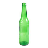 Ανοικτό κενό πράσινο μπουκάλι μπύρας Στοκ φωτογραφίες με δικαίωμα ελεύθερης χρήσης