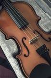 Ανοικτό κιβώτιο με το βιολί Στοκ Φωτογραφία