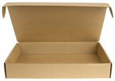 Ανοικτό κουτί από χαρτόνι με ένα καπάκι στοκ εικόνες