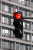 ανοικτό κόκκινο κυκλοφ&om Στοκ Εικόνα