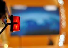 ανοικτό κόκκινο TV Στοκ εικόνα με δικαίωμα ελεύθερης χρήσης