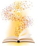 Ανοικτό μαγικό βιβλίο Στοκ εικόνα με δικαίωμα ελεύθερης χρήσης