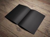Ανοικτό μαύρο βιβλίο Στοκ φωτογραφία με δικαίωμα ελεύθερης χρήσης