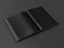 Ανοικτό μαύρο πρότυπο βιβλίων Στοκ φωτογραφία με δικαίωμα ελεύθερης χρήσης