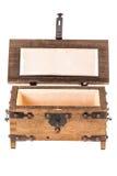 Ανοικτό μεσαιωνικό κιβώτιο Στοκ εικόνα με δικαίωμα ελεύθερης χρήσης