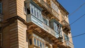 Ανοικτό μπλε μπαλκόνι Vallettaστοκ φωτογραφία με δικαίωμα ελεύθερης χρήσης