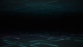 Ανοικτό μπλε πλέγμα υποβάθρου και οι κινούμενες ελαφριές γραμμές διανυσματική απεικόνιση