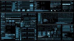 Ανοικτό μπλε φουτουριστική διεπαφή/ψηφιακό screen/HUD απόθεμα βίντεο