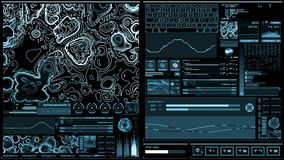 Ανοικτό μπλε φουτουριστική διεπαφή/ψηφιακό screen/HUD διανυσματική απεικόνιση