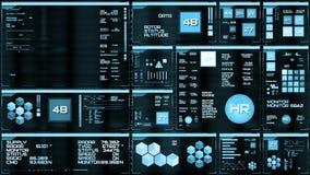 Ανοικτό μπλε φουτουριστική διεπαφή/ψηφιακό screen/HUD απεικόνιση αποθεμάτων