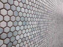 Ανοικτό μπλε hexagon σχέδιο στοκ φωτογραφία με δικαίωμα ελεύθερης χρήσης