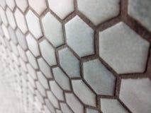 Ανοικτό μπλε hexagon σχέδιο στοκ φωτογραφία