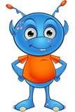 Ανοικτό μπλε αλλοδαπός χαρακτήρας Στοκ Εικόνα