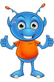 Ανοικτό μπλε αλλοδαπός χαρακτήρας Στοκ Εικόνες