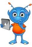 Ανοικτό μπλε αλλοδαπός χαρακτήρας Στοκ εικόνες με δικαίωμα ελεύθερης χρήσης