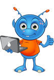 Ανοικτό μπλε αλλοδαπός χαρακτήρας Στοκ φωτογραφίες με δικαίωμα ελεύθερης χρήσης
