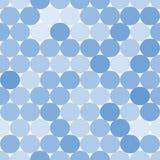 Ανοικτό μπλε διανυσματικό άνευ ραφής σχέδιο με τους κύκλους Στοκ Εικόνες