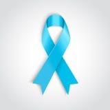 Ανοικτό μπλε κορδέλλα ως σύμβολο του προστατικού καρκίνου Στοκ εικόνες με δικαίωμα ελεύθερης χρήσης