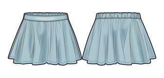 Ανοικτό μπλε μμένη φούστα τζιν Στοκ εικόνες με δικαίωμα ελεύθερης χρήσης