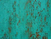 Ανοικτό μπλε ξύλινη σύσταση με τις φλούδες χρωμάτων Αποφλοίωση χρωμάτων Στοκ εικόνες με δικαίωμα ελεύθερης χρήσης