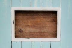 Ανοικτό μπλε χρωματισμένο πλαίσιο με το διάστημα για το κείμενο Στοκ εικόνες με δικαίωμα ελεύθερης χρήσης