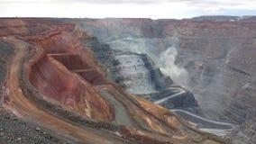 Ανοικτό ορυχείο χρυσού περικοπών Στοκ Φωτογραφία