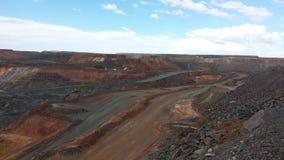 Ανοικτό ορυχείο χρυσού περικοπών Στοκ Εικόνες