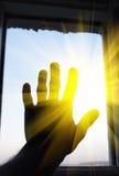 ανοικτό παράθυρο βραχιόνω& Στοκ εικόνα με δικαίωμα ελεύθερης χρήσης