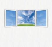 ανοικτό παράθυρο ελευθερίας έννοιας Στοκ εικόνες με δικαίωμα ελεύθερης χρήσης