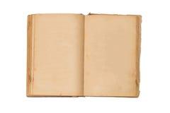 Ανοικτό παλαιό βιβλίο που απομονώνονται, εκλεκτής ποιότητας βιβλίο με τις κενές κίτρινες λεκιασμένες σελίδες Στοκ φωτογραφία με δικαίωμα ελεύθερης χρήσης