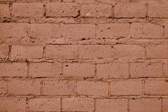 Ανοικτό καφέ σύσταση τουβλότοιχος Παλαιό τούβλινο υπόβαθρο τοίχων Ανοικτό πορτοκαλί υπόβαθρο τοίχων Ο άργιλος χρωματίζει το σχέδι στοκ εικόνα με δικαίωμα ελεύθερης χρήσης