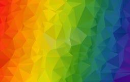 Ανοικτό πορτοκαλί polygonal απεικόνιση, τα οποία αποτελούνται από τα τρίγωνα Στοκ φωτογραφίες με δικαίωμα ελεύθερης χρήσης