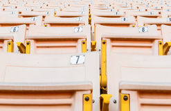 Ανοικτό πορτοκαλί κάθισμα Στοκ Φωτογραφία