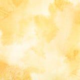 Ανοικτό πορτοκαλί υπόβαθρο watercolor Στοκ Εικόνες