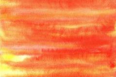 Ανοικτό πορτοκαλί υπόβαθρο watercolor Απεικόνιση αποθεμάτων