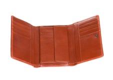 Ανοικτό πορτοφόλι δέρματος Στοκ Εικόνα