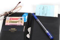 ανοικτό πορτοφόλι Στοκ Εικόνες