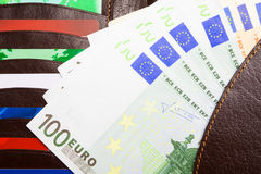 ανοικτό πορτοφόλι Στοκ φωτογραφία με δικαίωμα ελεύθερης χρήσης