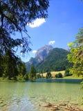 Ανοικτό πράσινο λίμνη βουνών στις Άλπεις Στοκ Εικόνες