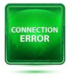 Ανοικτό πράσινο τετραγωνικό κουμπί νέου λάθους σύνδεσης διανυσματική απεικόνιση