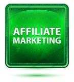 Ανοικτό πράσινο τετραγωνικό κουμπί νέου μάρκετινγκ θυγατρικών διανυσματική απεικόνιση