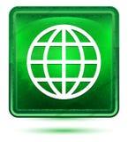 Ανοικτό πράσινο τετραγωνικό κουμπί νέου παγκόσμιων εικονιδίων απεικόνιση αποθεμάτων
